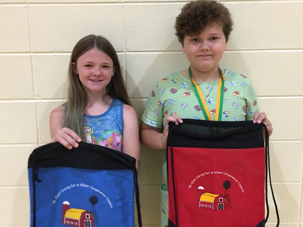 Soil and Water Conservation Poster Winners: Kelby Casey, 3rd grade and Shaelyn Sapp, 4th grade