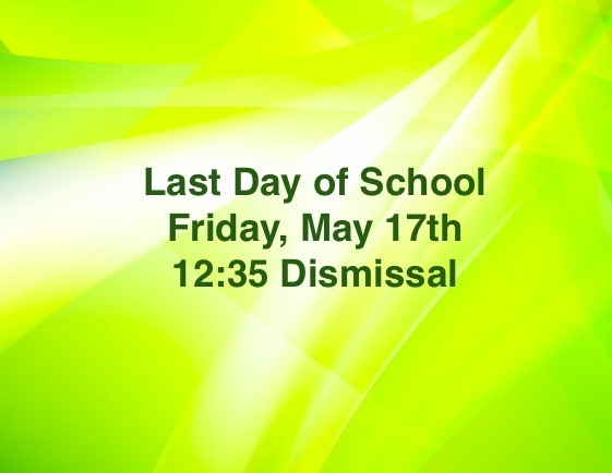 Tomorrow is the last day of school!